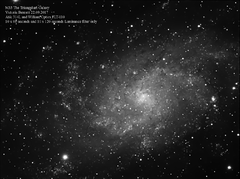 M33 The Triangulum Galaxy 22.09.2017