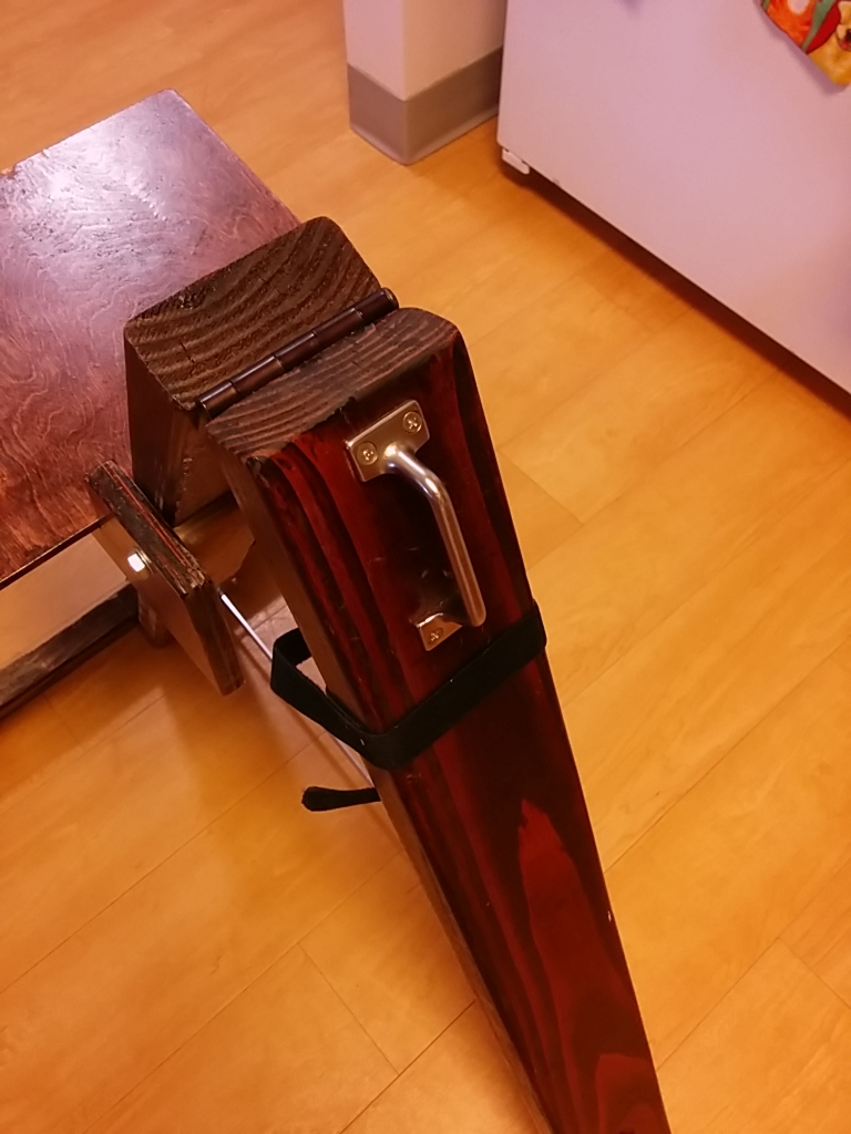 A handle for my DIY friction based denver observing chair