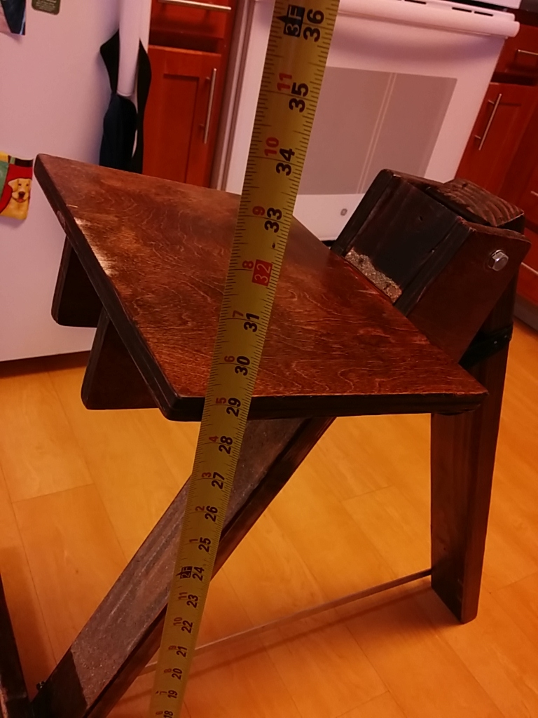 DIY friction based denver observing chair adjusts from 29 inches to 8 inches