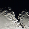 Lunar central-north Montes Apinninus