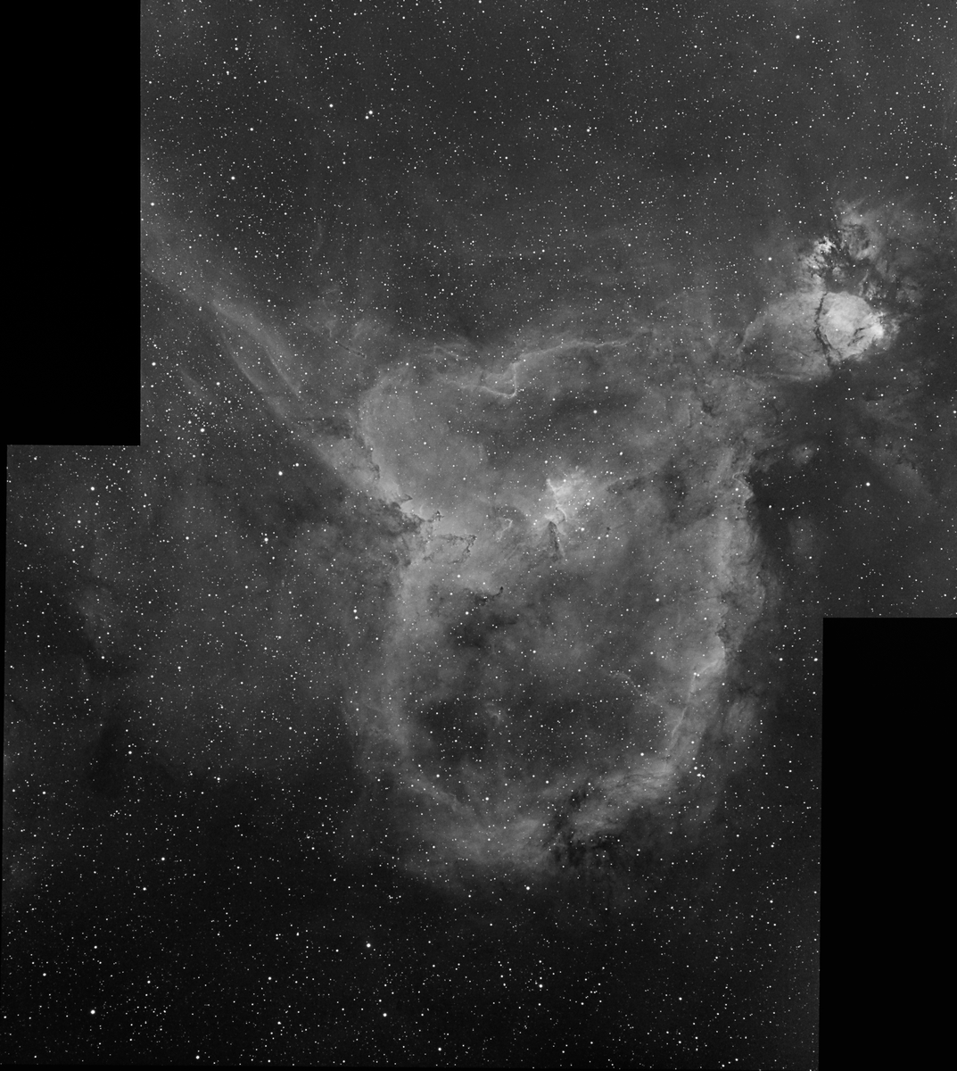 IC1805 Heart Nebula in Ha (two panel mosaic)