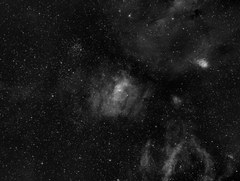 NGC7635 Bubble Nebula and M52 in Ha