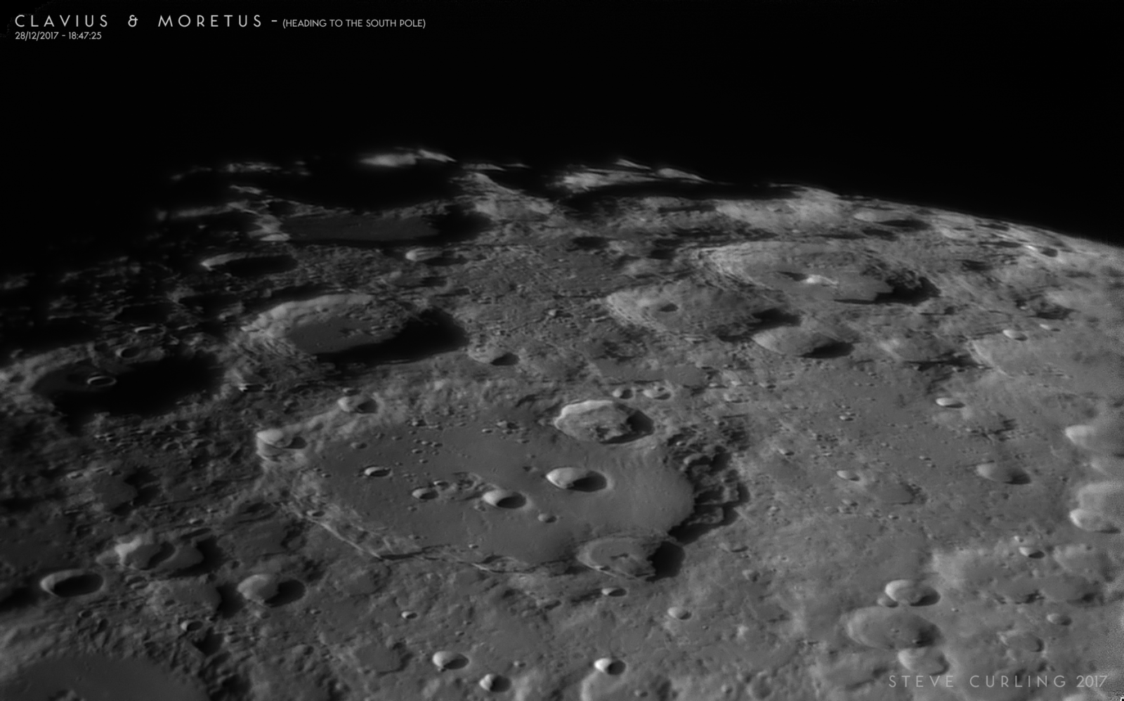 Clavius & Moretus - Heading to the south lunar pole