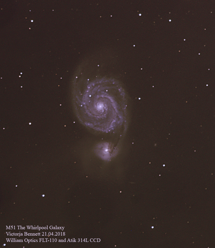 M51 The Whirlpool Galaxy 21.04.2018