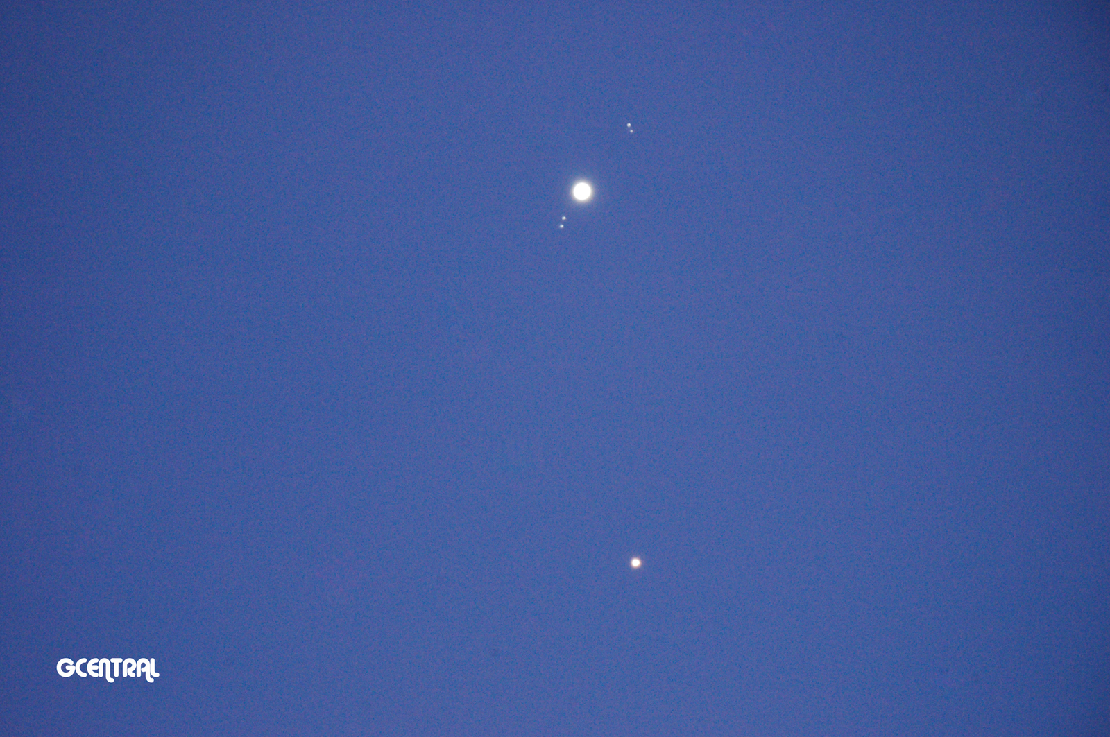 Jupiter & Mars (Prime Focus) January 7, 2018