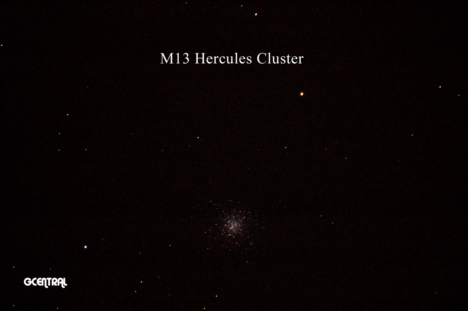 Hercules Cluster August 12, 2015 (single exposure, zoom lens)