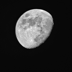 The Moon through a Smartphone