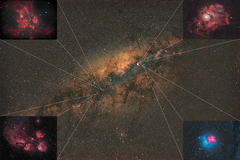 The Milky Way and DSO's