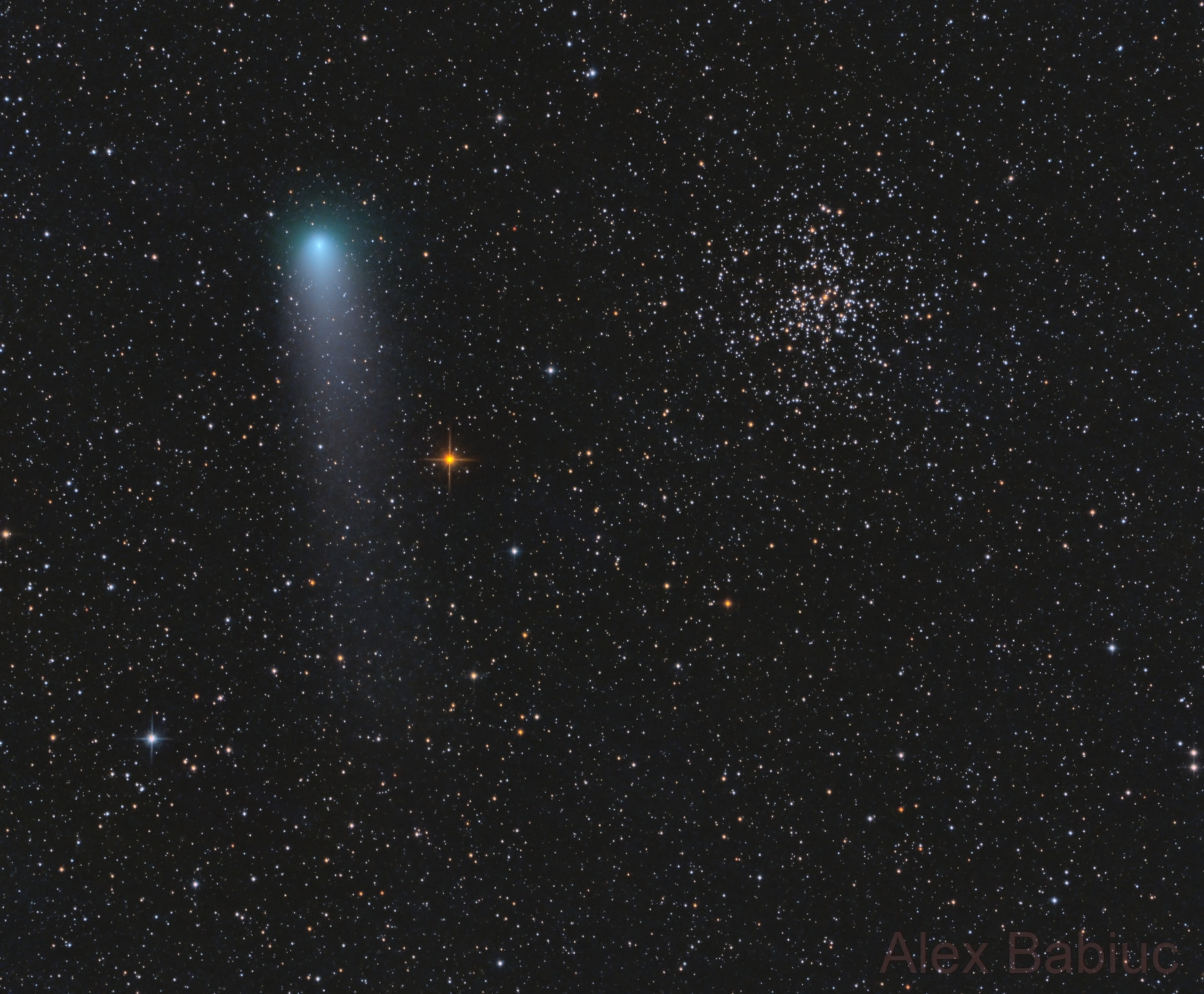 Comet 21P/Giacobini–Zinner meets M37 at perihelion