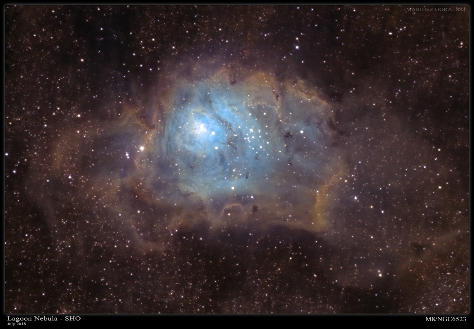 Lagoon Nebula in Narrowband 6-19 July 2019
