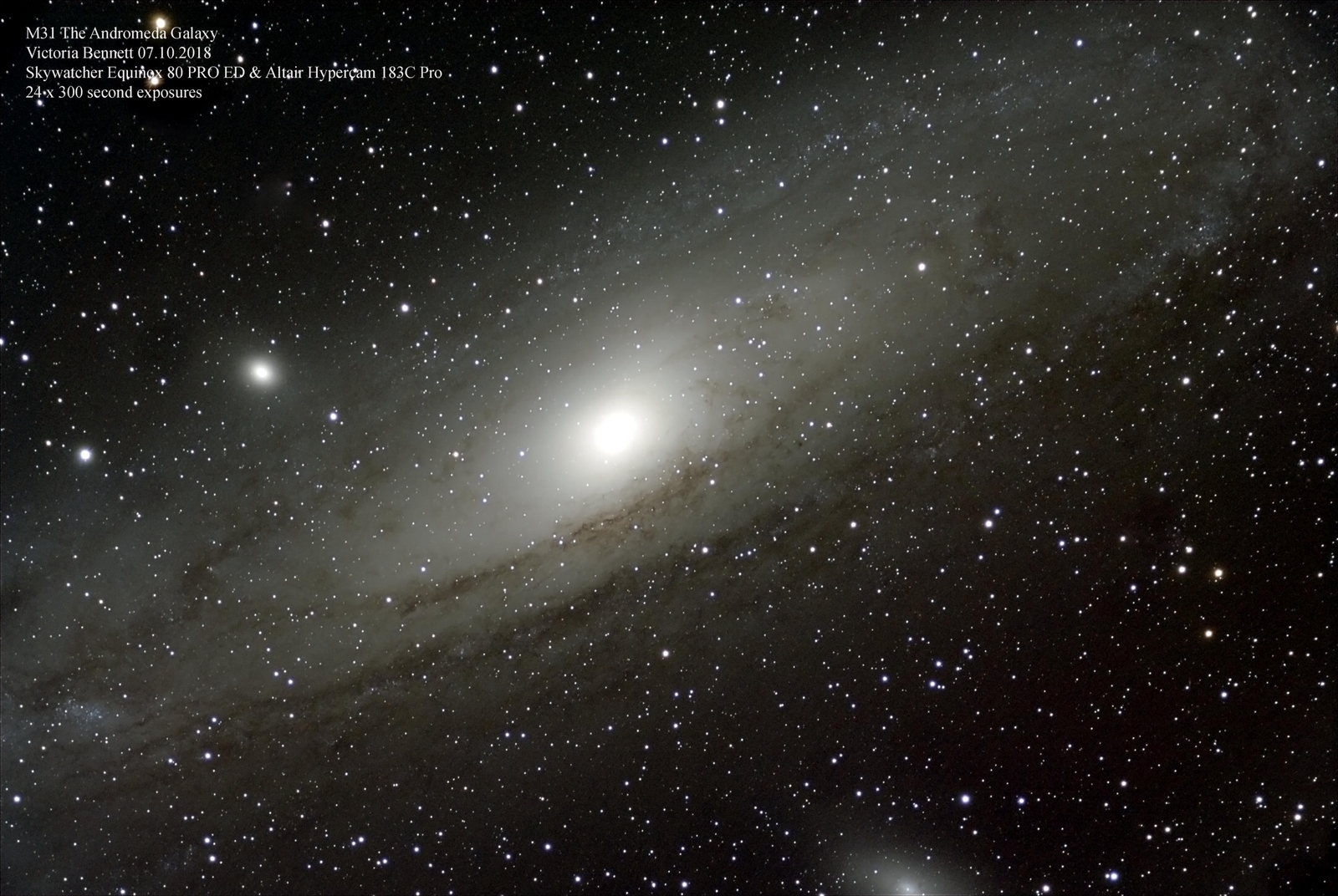 M31 The Andromeda Galaxy 07.10.2018