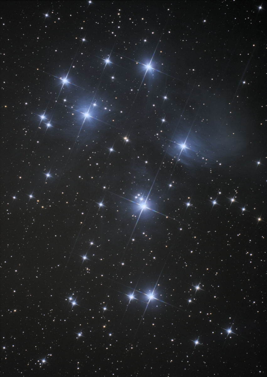 Pleiades, moderate stretching