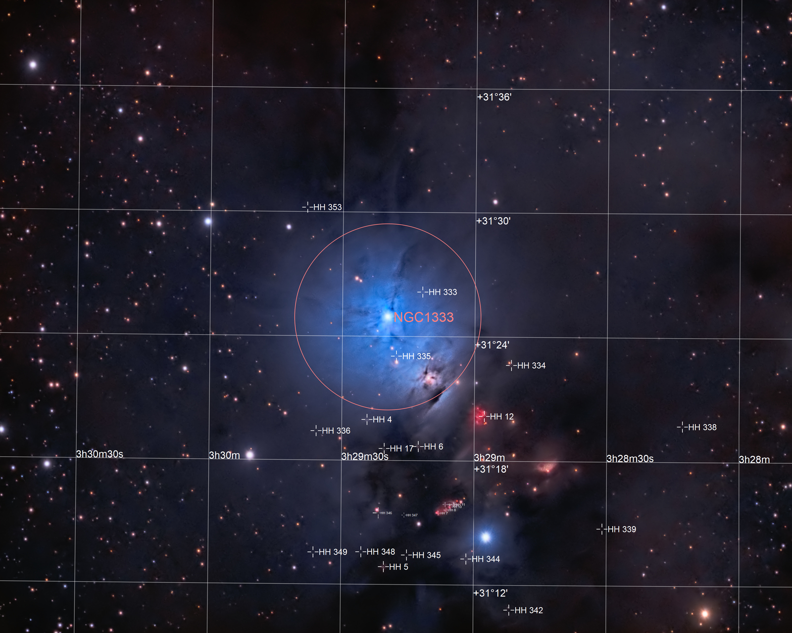 NGC1333 (annotated)