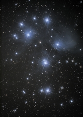 2018-09-08 Pleiades open cluster (M45)
