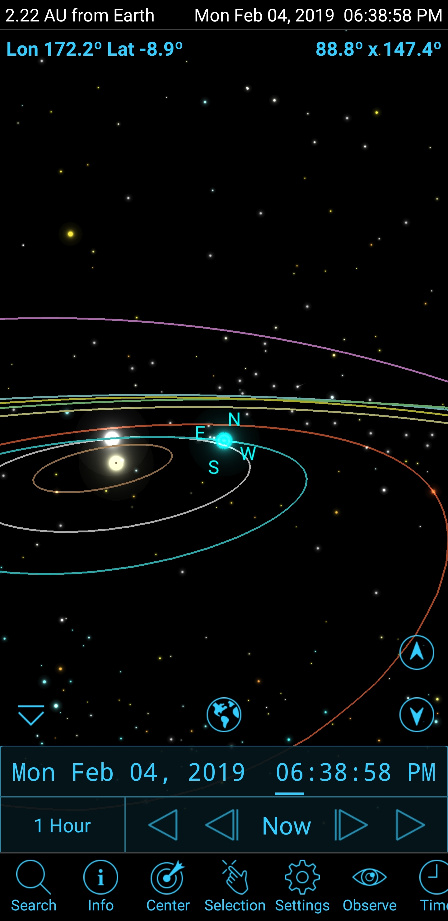 Solar system planetary positions - Getting Started With