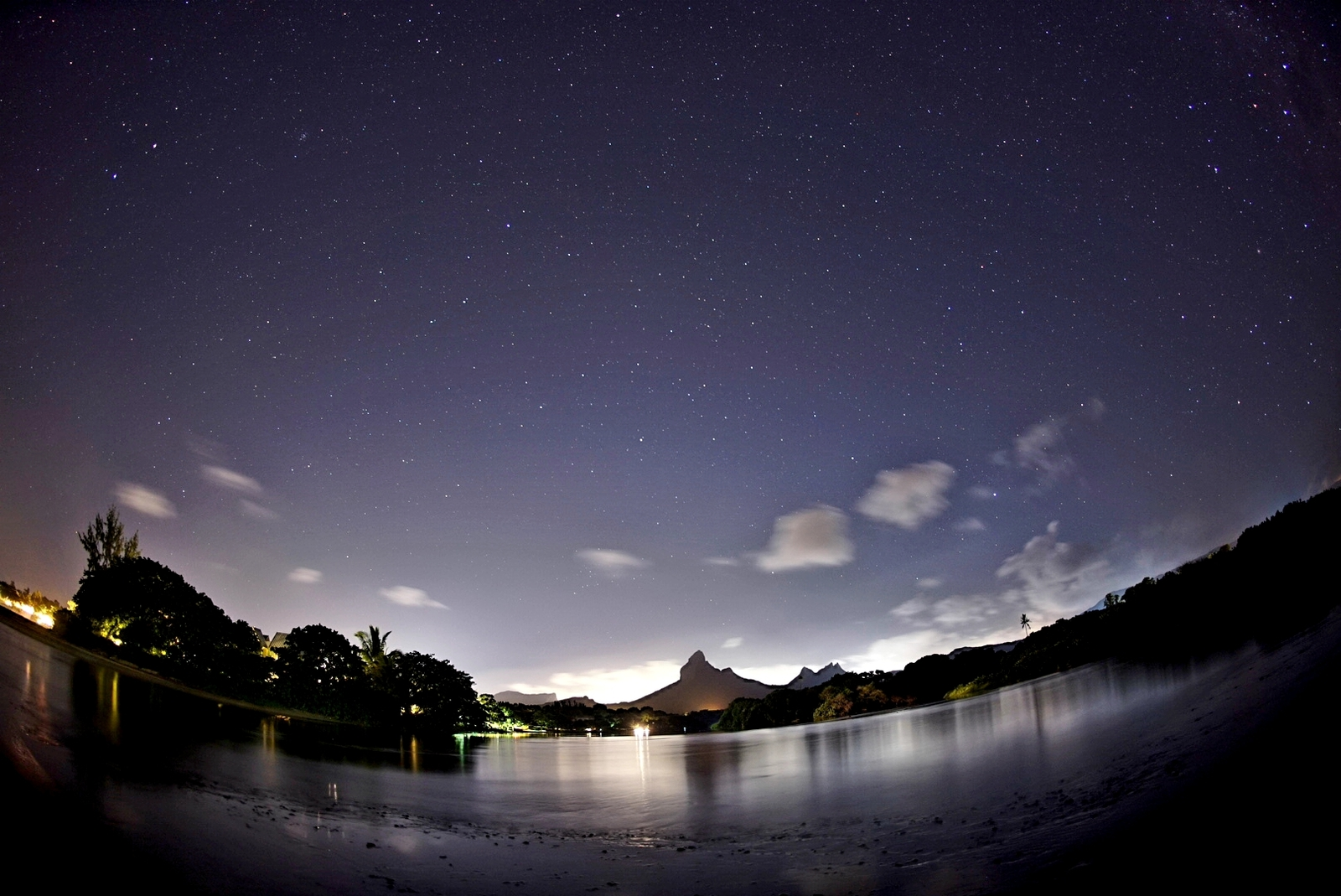 Relaxing by the river, Mauritius