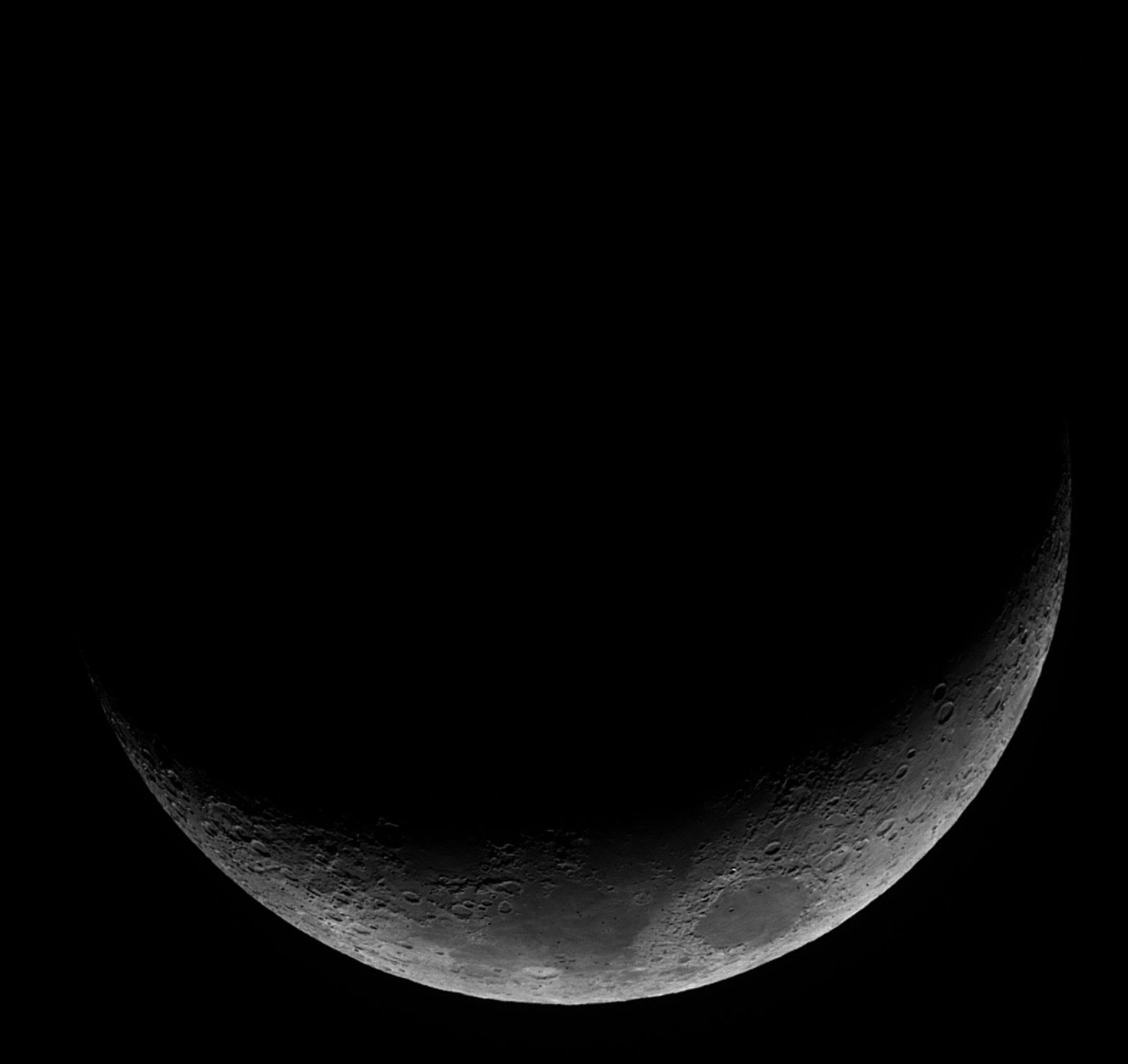Waxing Crescent Moon 10 March 2019