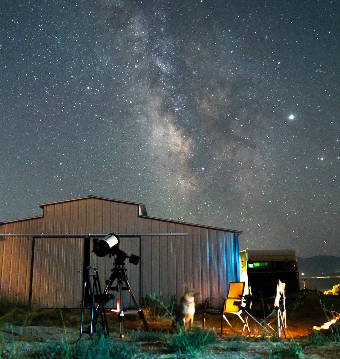 Astronomy under dark skies
