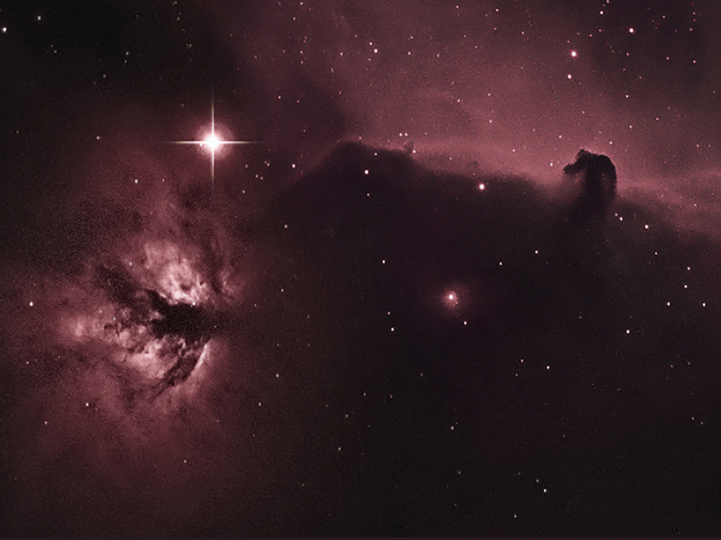 IC434 Horsehead and Flame Nebulae