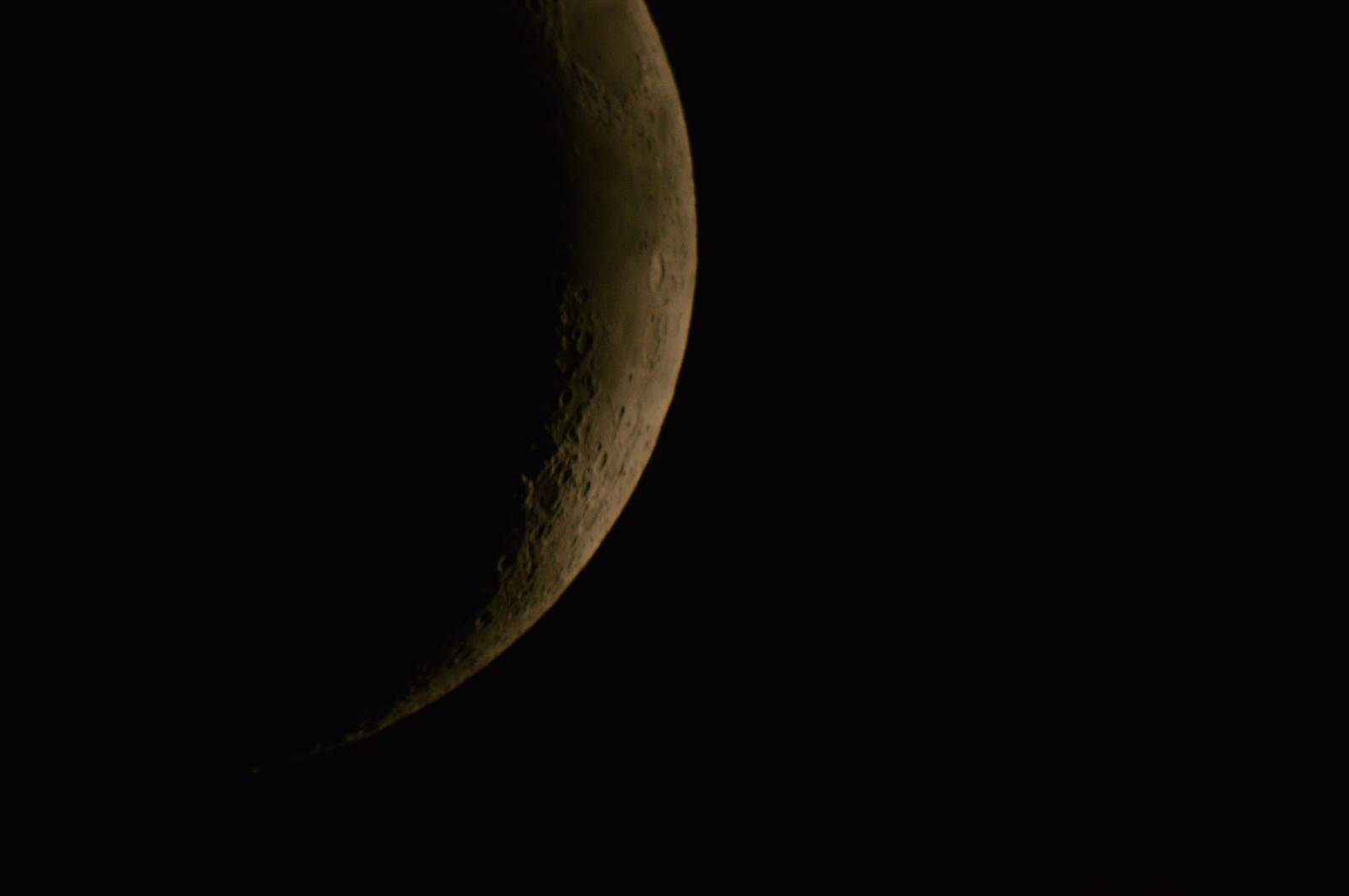 26 Apr, 2020 - waxing crescent about 3 days old
