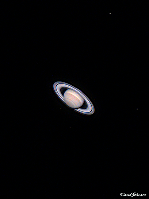 Saturn with 5 Moons
