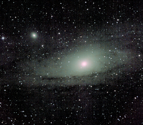 Andromeda Galaxy - M31. Almost 15min @ ISO100 with 150mm F5. Skywatcher 150p and Nikon D3200 at prime focus