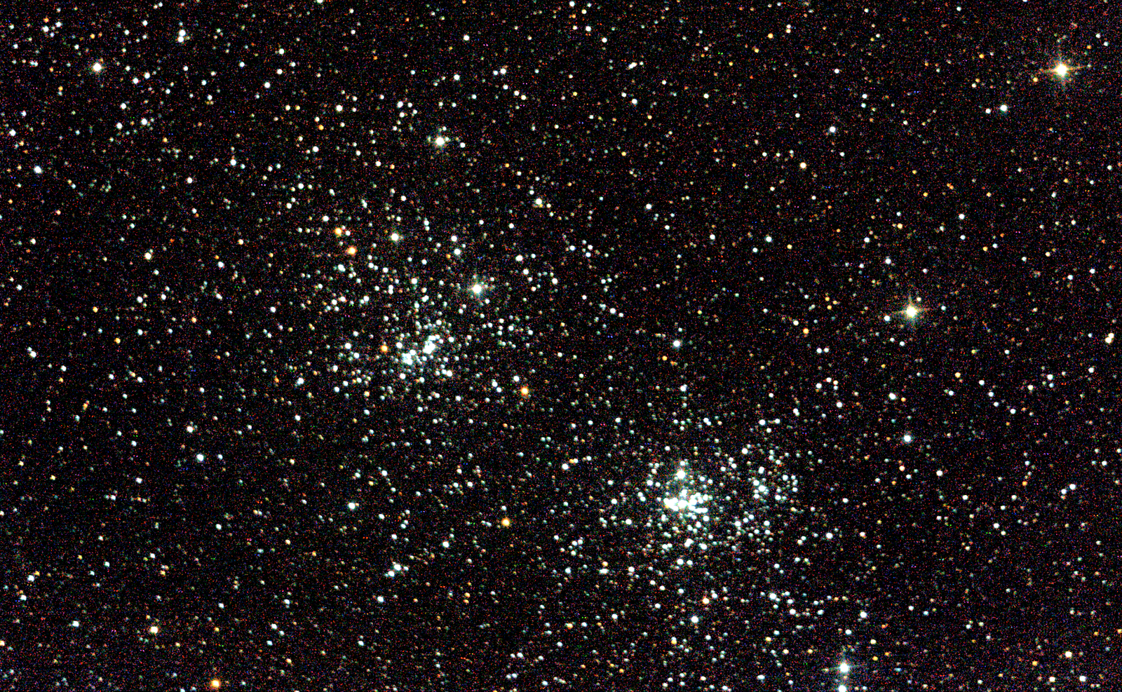 NGC869 Open cluster in Perseus. 1min 30s @ ISO800, 150mm F5. Skywatcher 150P and Nikon D3200